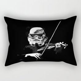 Dark Violinist Warrior Rectangular Pillow
