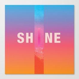 Shine With Pride 2018 Canvas Print