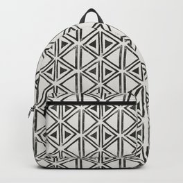 Block Print Diamond Backpack