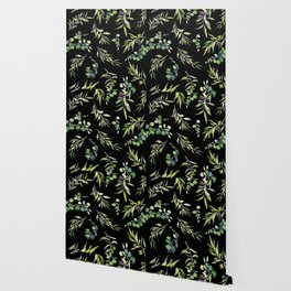 Eucalyptus and Olive Pattern  Wallpaper