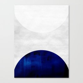 white & cobalt Canvas Print