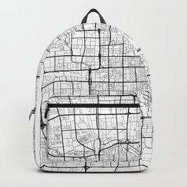 Beijing Map White Backpack