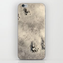 snow prints iPhone Skin