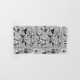 Da Vinci's Anatomy Sketchbook // Silver Hand & Bath Towel