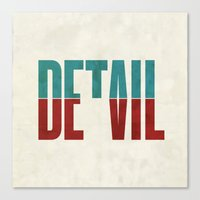 cup Canvas Prints featuring Devil in the detail. by David