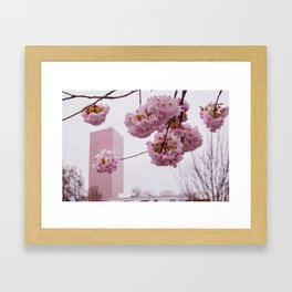 US Bank Tower in spring Framed Art Print