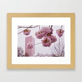 US Bank Tower in spring Framed Art Print