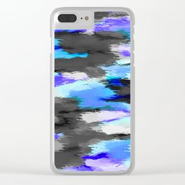purple blue and black painting texture abstract background Clear iPhone Case