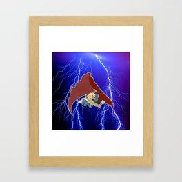God of Lightning Framed Art Print