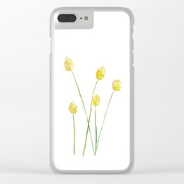 Yellow Billy Button Flowers Clear iPhone Case