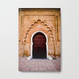 Moroccan Arch Metal Print