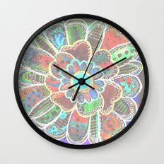 Florem Terrae Dark Wall Clock