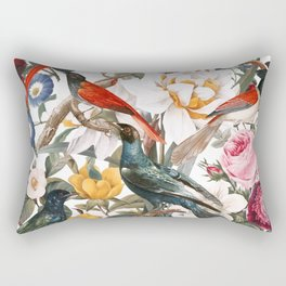 Floral and Birds XXXV Rectangular Pillow