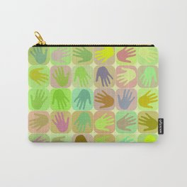 Multicolored hands pattern Carry-All Pouch