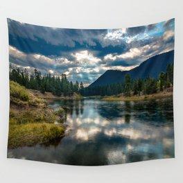 Snake River Revival - Morning Along Snake River in Grand Tetons Wall Tapestry