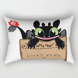 Toothless smile Rectangular Pillow