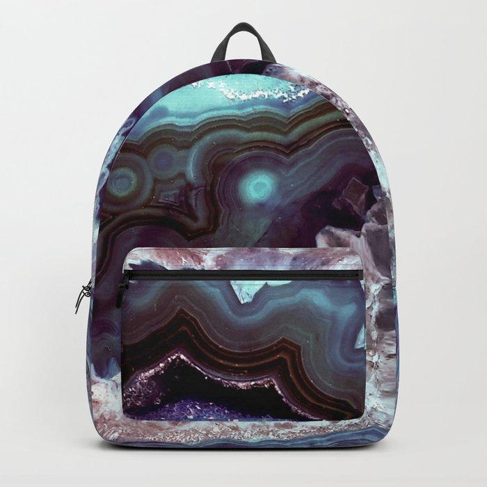 Ocean Blues Quartz Crystal Backpack
