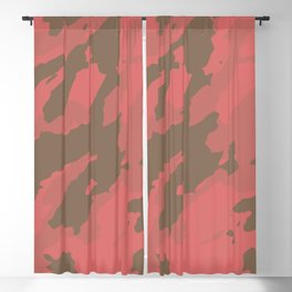 Living Coral Marble Abstract Pattern Blackout Curtain