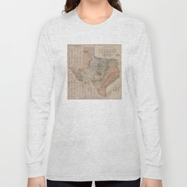 Vintage Geological Map of Texas (1920) Long Sleeve T-shirt