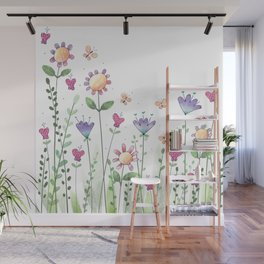 Wildflower Whimsy Wall Mural