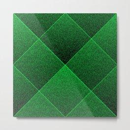 Plush Kelly Green Diamond Metal Print