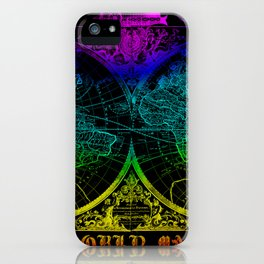 world map old vintage iPhone Case