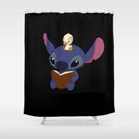 stitch Shower Curtains featuring Stitch! by DJ066