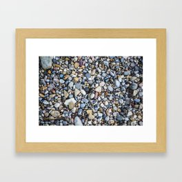 Shellfish and Stones at the beach of Lago di Garda Italy II Framed Art Print