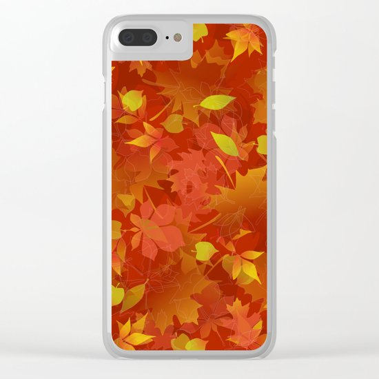 Autumn Leaves Carpet Clear iPhone Case