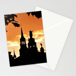 Sunset in Old Montreal Stationery Cards