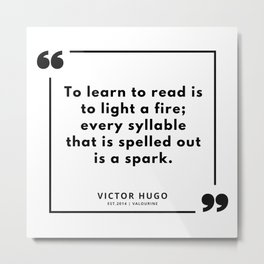 17  | Victor Hugo Quotes | 190830 Metal Print