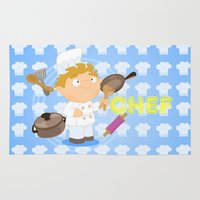chef Area & Throw Rugs featuring Chef by Alapapaju