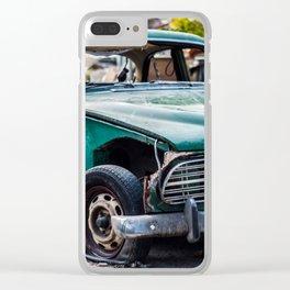 Smashed vintage car Clear iPhone Case