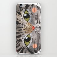 oana befort iPhone & iPod Skins featuring COOL CAT by Oana Befort