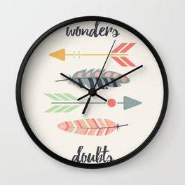Wonders, doubts Wall Clock