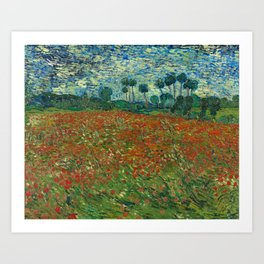 Vincent van Gogh - Poppy Field (1890) Art Print
