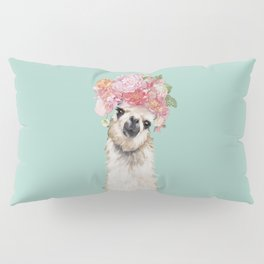 Llama with Flowers Crown #3 Pillow Sham