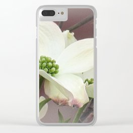 Dogwood Flower Modern Farmhouse Cottage Chic Country Art A447 Clear iPhone Case