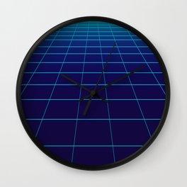 Minimalist Blue Gradient Grid Lines Wall Clock