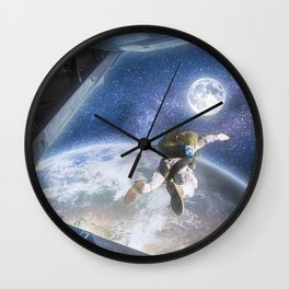 Space Freedom Wall Clock