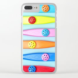 COLORFUL KAZOOS Clear iPhone Case