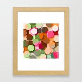 dots & squares Framed Art Print