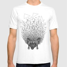 Thorny hedgehog Mens Fitted Tee MEDIUM White