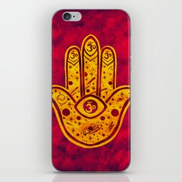 """Hamsa hand"" WATERCOLOR (HAND PAINTED) BY ILSE QUEZADA iPhone Skin"