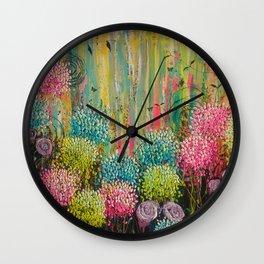 Flower Candy Wall Clock