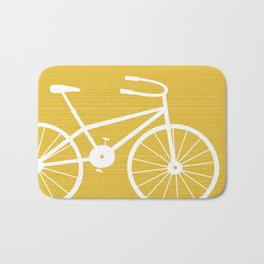 Yellow Bike by Friztin Bath Mat