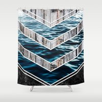 Striped Materials of Nature III Shower Curtain