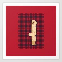 Plaid Bear Lumberjack Osos Art Print