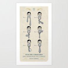 tie a tie Art Print