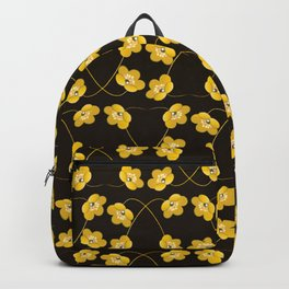 Dainty Yellow Flowers on Heart Shaped Vines Backpack